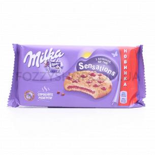 Печенье Milka с начинкой и кусочк молочн шоколада