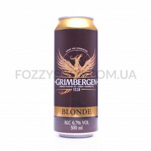 Пиво Grimbergen Blonde светлое ж/б