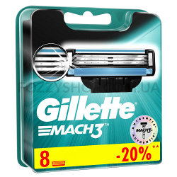 Сменные картриджи для бритья Gillette Mach 3 (8 шт)