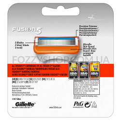 Сменные картриджи для бритья Gillette Fusion5 (4 шт)