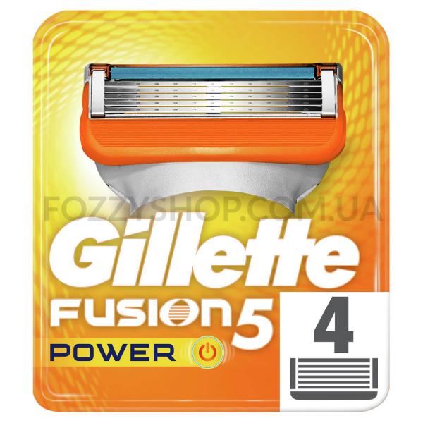 Сменные картриджи для бритья Gillette Fusion5 Power (4 шт)