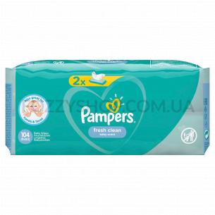 Cалфетки Pampers Fresh Clean 2х52 ПрК