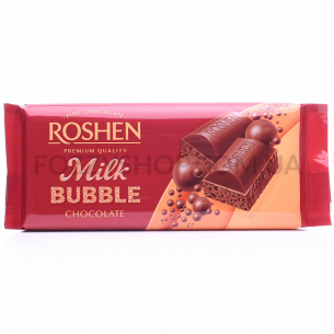 Шоколад молочный Roshen пористый