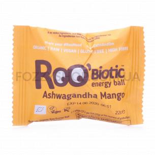Батончик Roo`Biotic энергетический ашваганда-манго