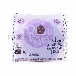 Печенье Rookies кусочки шоколада-фундук органическ