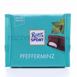 Шоколад черный Ritter Sport освеж. крем-мятн.начин