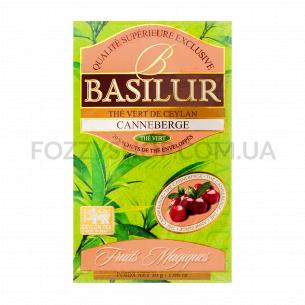 Чай зеленый Basilur с клюквой