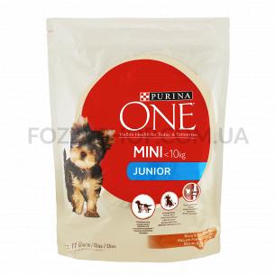 Корм для щенков ONE Mini Junior курица-рис сухой