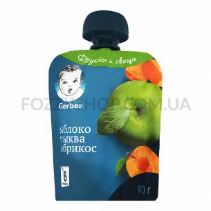 Пюре Gerber яблоко-тыква-абрикос