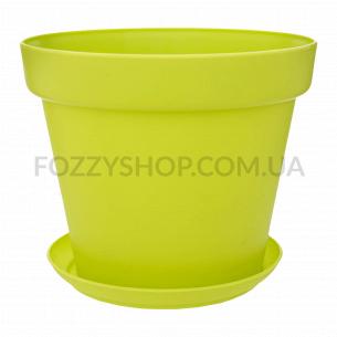 Горшок Patio Soft зеленый пластик d19см