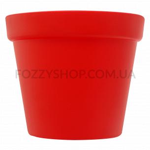 Горшок Patio Soft красный пластик d15см