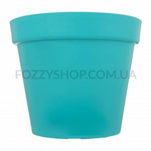 Горшок голубой O15, пластик Patio