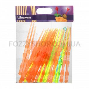 Шпажки для фруктов пластиковые цветные