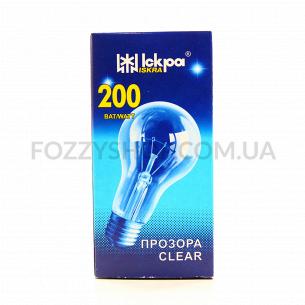 Лампа Искра В66 230В 200Вт Е27 прозрачна