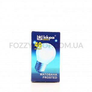 Лампа Искра шарик 230В 40Вт Е27 матов и/