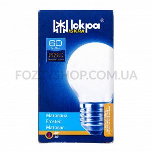 Лампа Искра шарик 230В 60Вт Е27 матов.