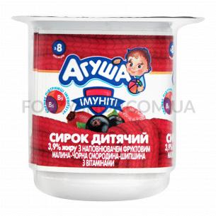 Творожок Агуша Имунити малина-смород-шиповник 3,9% ст