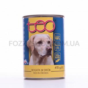 Корм для собак Teo с домашней птицей в соусе