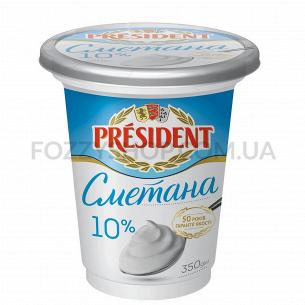 Сметана President 10% ст