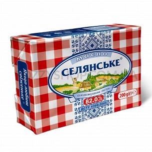 """Масло """"Селянське"""" сладкосливочное 82%"""