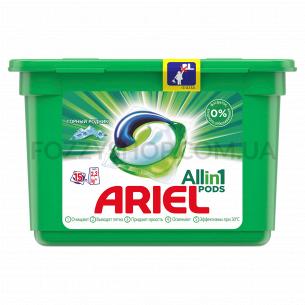 Капсулы для стирки Ariel Pods Все-в-1 Горный Родник, 15шт.