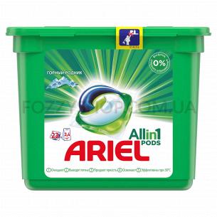 Капсулы для стирки Ariel Pods Все-в-1 Горный Родник, 23шт.
