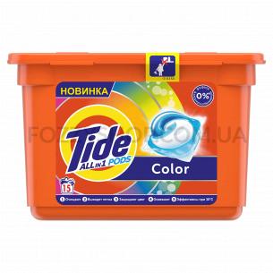 Капсулы для стирки Tide Все-В-1 Color, 15 шт.
