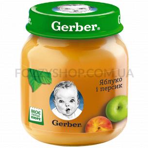 Пюре Гербер яблоко и персик...