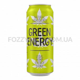 Напиток энергетический Green Energy, сильногазированный, ж/б
