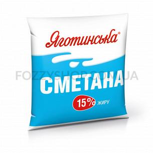 """Сметана""""Яготинське"""" 15% п/э"""