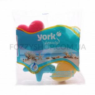 Набор губок для ванны York 4 шт