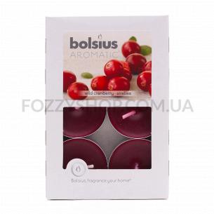 Набор свечей чайных Bolsius Клюква арома 6шт