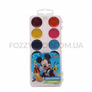 Краски акварельные Тетрада Disney медовые 12 цветов