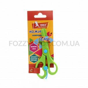 Ножницы детские Умка пластик, зеленые 13,3см НЦ405-04