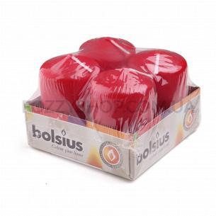 Набор Bolsius Свечи на поддоне красные 4шт 60/40мм