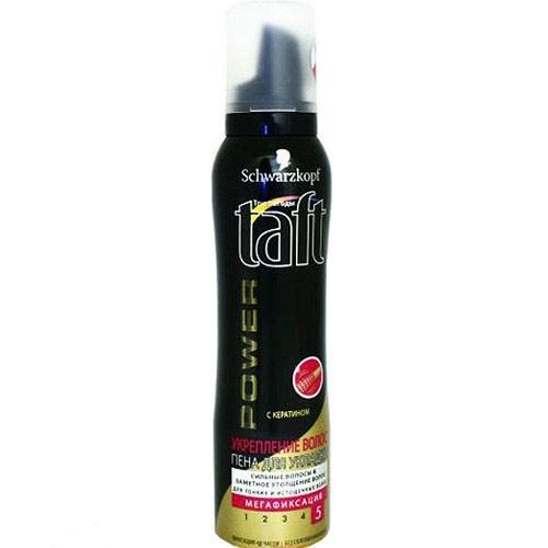 Пена для укладки волос Taft Power з кератином