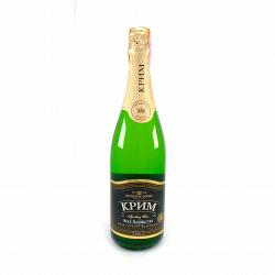 Шампанское АЗШВ КРЫМ белое полусухое