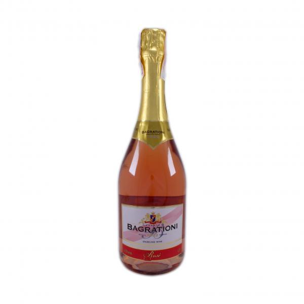Шампанское Bagrationi полусладкое розовое