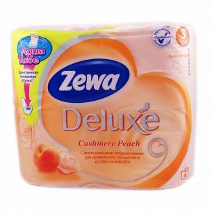Бумага туалетная Zewa Deluxe Персик