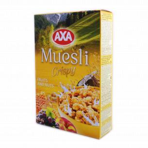 Мюсли АХА медовые с фруктами и орехами хрустящие