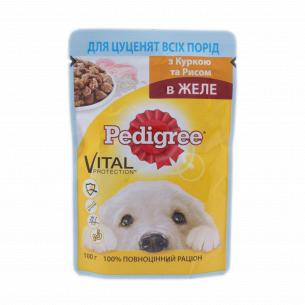 Корм для щенков Pedigree с курицей в желе