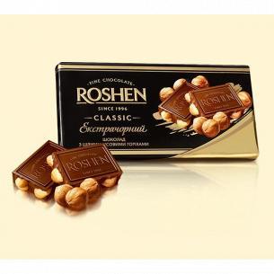 Шоколад Roshen Экстрачерный с целым лесным орехом