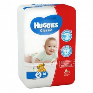 Подгузники Huggies Classic Small 3 4-9кг