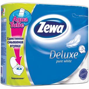 Бумага туалетная Zewa Deluxe Pure белая