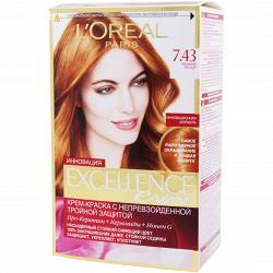 Краска для волос L`Oreal Excellence тон 7.43