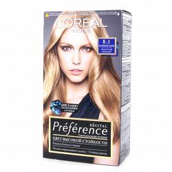 Краска для волос  L`Oreal RECITAL Preference тон 8.1