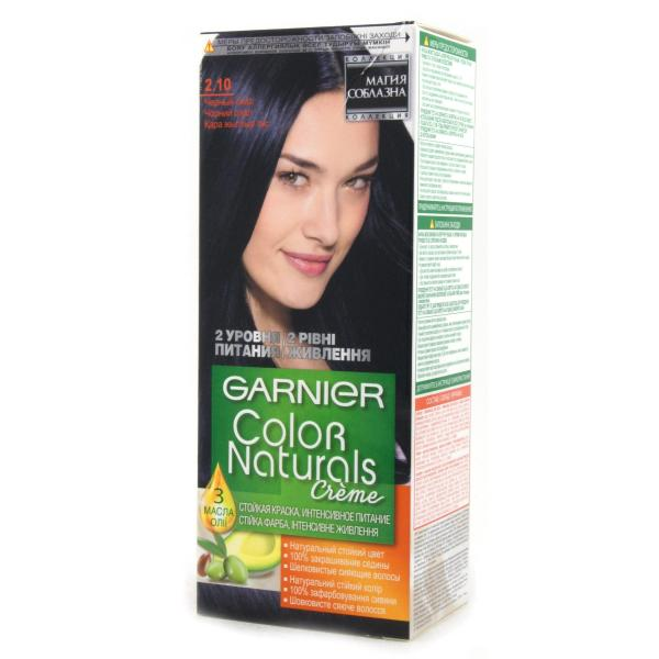 Краска для волос Garnier Color Naturals Интенсивное питание тон 2.1