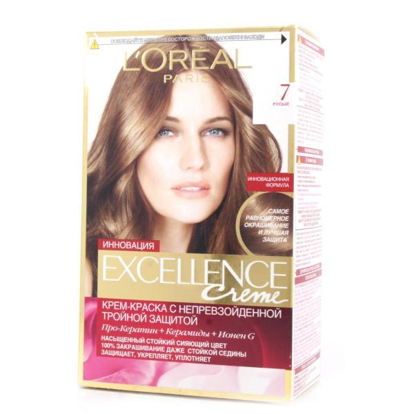 Краска для волос L`Oreal Excellence тон 7