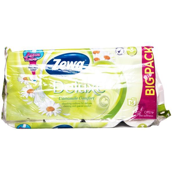 Бумага туалетная Zewa Deluxe Ромашка 3-слойная