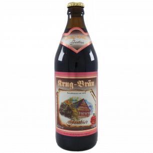 Пиво Krug Brau Festbier темное фильтрованное